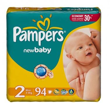 ef3fa8df3856 Подгузники Pampers New Baby-Dry Размер 2 Mini (3-6 кг) 94 шт.